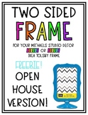 Ikea & Michaels Two Sided Frame **FREEBIE-Open House** Template