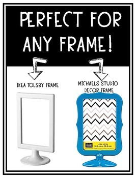 Ikea & Michaels Two Sided Frame **FREEBIE-Open House** Template