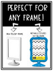 Ikea & Michaels Two Sided Frame Insert Template  *EDITABLE*