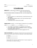 Il Condizionale Guided Notes and KEY