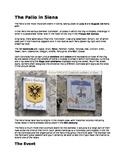 Il Palio (Siena): a reading in English