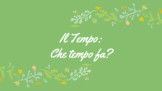 Il Tempo - Weather Slideshow, Flashcard Images, Lesson Pla