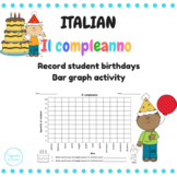 Il compleanno bar graph Italian