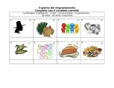 Il giorno del ringraziamento--Thanksgiving handout in Italian