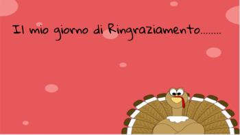 Il mio giorno di Ringraziamento: Italian Thanksgiving writing
