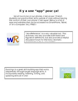 Il y a une 'app' pour ca! / There's an app for that!