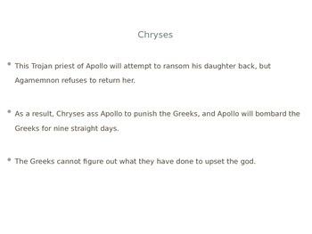 Iliad Book 1 Explanation