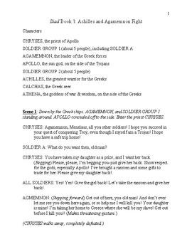Iliad Book 1 Readers Theater