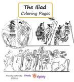 Iliad, Coloring Pages + Image Descriptions