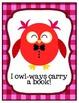 Valentine Owls Love Reading