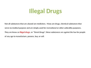 Illegal Drugs PPT
