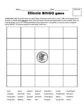 "Illinois #31 - ""Ten to a Bundle"" Activities"