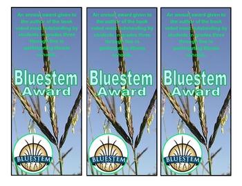 Illinois Bluestem Award bookmarks