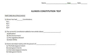 constitution test teaching resources teachers pay teachers rh teacherspayteachers com Illinois Constitution Study Guide Missouri Constitution Study Guide