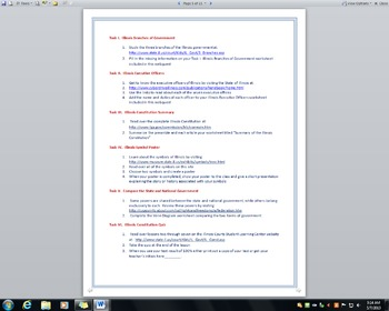 Illinois Constitution WebQuest