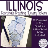 Illinois Coordinate Graphing Picture 1st Quadrant & ALL 4 Quadrants