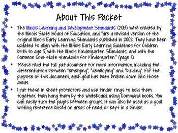 Illinois Early Learning & Development Standards for Classroom -Color