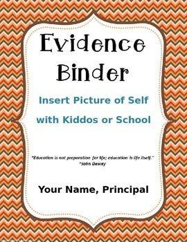 EDITABLE Illinois Evidence Binder for Elementary Administrators (Fall Theme)