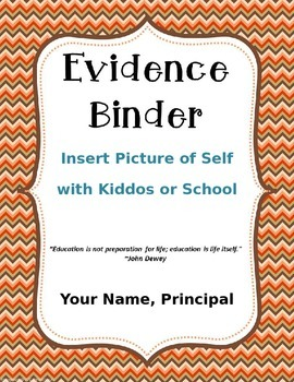 EDITABLE Illinois Evidence Binder for Elementary Administrators (Fall Theme)