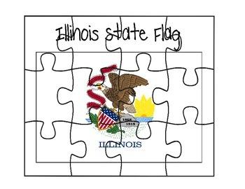Illinois Flag Puzzle
