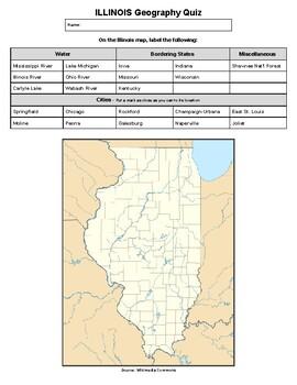 Illinois Geography Quiz