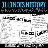 Illinois History Fun Fact Scavenger Hunt Task Cards