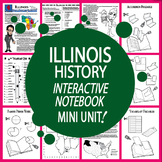 Illinois History State Study Interactive Notebook Unit + AUDIO