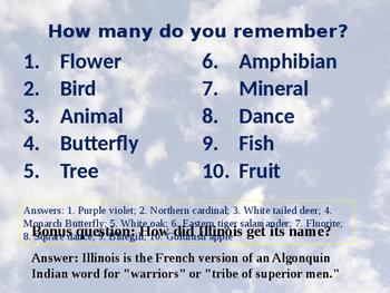 Illinois History PowerPoint - Part I