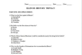 Illinois History Trivia Quiz