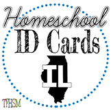 Illinois (IL) Homeschool ID Cards for Teachers and Students
