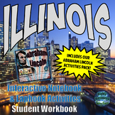 Illinois Interactive Notebook Activities Student Workbook with Test Prep