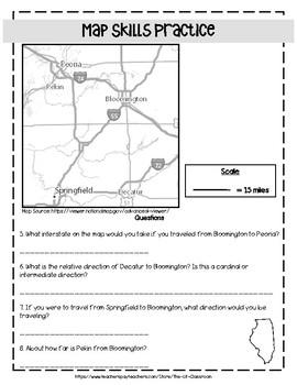 Illinois Map Skills Practice