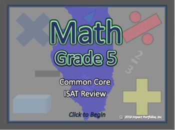 BOGO Illinois Math ISAT - 5th Grade Common Core Math Review Program