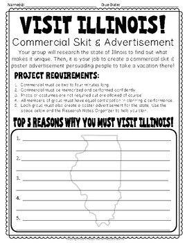 Illinois Project: Create a Commercial! {Illinois Research Project}