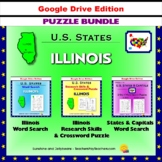 Illinois Puzzle BUNDLE - Word Search & Crossword Activities - US States - Google