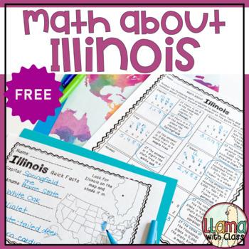 Math about Illinois State Symbols through Subtraction Practice Freebie