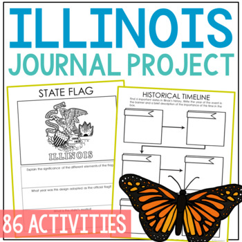ILLINOIS History Project, Differentiated State Research Journal {EDITABLE}