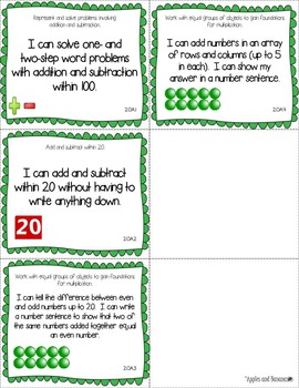 "Illinois Second Grade Standards - All Subjects ""I Can"" Posters & Statement Cards"