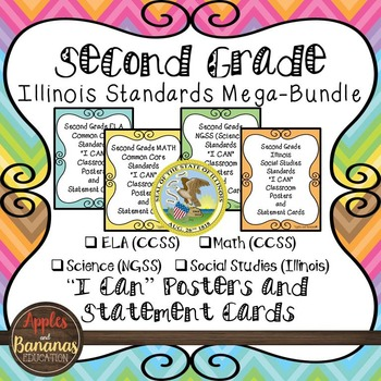 """Illinois Second Grade Standards - All Subjects """"I Can"""" Pos"""