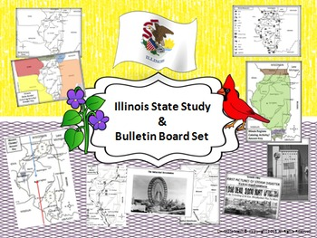 Illinois State Study & Bulletin Board Set