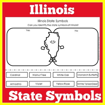 Illinois State Symbols Worksheet