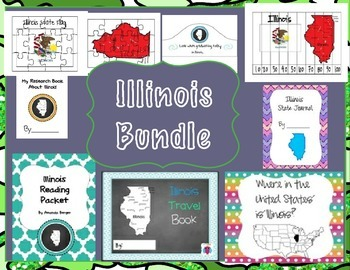 Illinois Themed Bundle- 9 resources