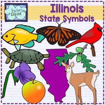 Illinois state symbols clipart