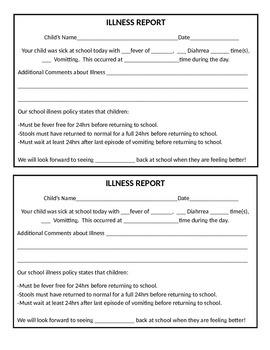 Illness Report