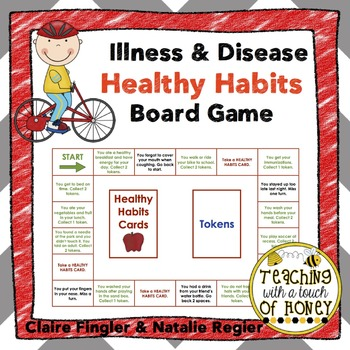 Illness and Disease Healthy Habits Board Game