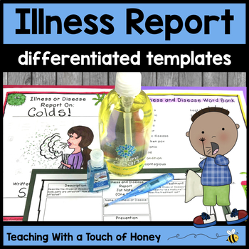 Informational Writing Templates | Illness Activities | Health Writing