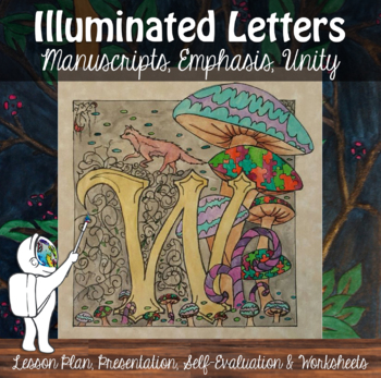 Calligraphy; Illuminated Letters - Art Lesson