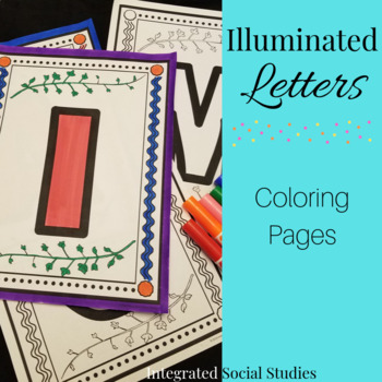 Illuminated Letters Coloring Pages