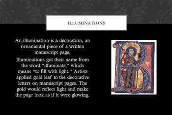 Illuminated Letters & Manuscript PowerPoint