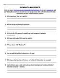 Illuminated Manuscript Response Worksheet